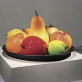 Bowl of over-sized glass fruit
