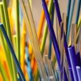 Rainbow of colored glass sticks